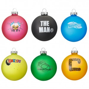 WWE Women's Division 2019 Glass Ball Ornament 6-Pack Set