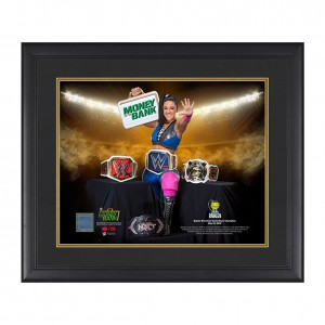 """Bayley """"Grand Slam Champion"""" 20 x 24 Used Ring Canvas Plaque"""