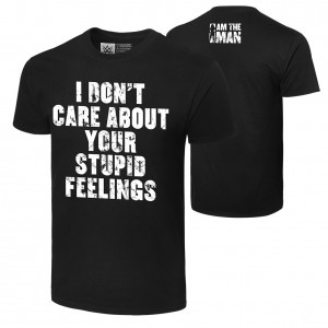 """Becky Lynch """"I Don't Care About Your Feelings"""" Authentic T-Shirt"""