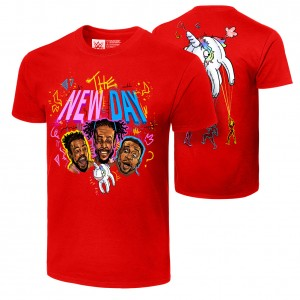 """The New Day """"Unicorn Balloon"""" Authentic T-Shirt"""