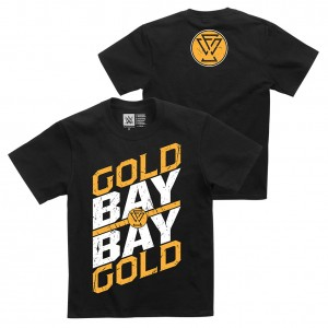 """Adam Cole """"Gold Gold Bay Bay"""" Youth Authentic T-Shirt"""