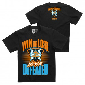 """Zack Ryder & Curt Hawkins """"Never Defeated"""" Youth Authentic T-Shirt"""