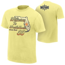 """WrestleMania 33 """"Welcome to Florida"""" Youth Yellow T-Shirt"""