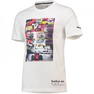 Aston Martin Red Bull Racing LS Graphic T-Shirt by Puma-Wht