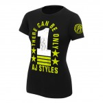 """AJ Styles """"There Can Be Only 1"""" Women's Authentic T-Shirt"""