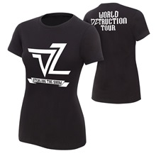 "Dolph Ziggler ""World DZtruction Tour"" Women's Authentic T-Shirt"