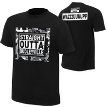 """The Dudley Boyz """"Straight out of Dudleyville"""" Authentic T-Shirt"""