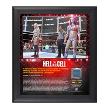 Charlotte Hell in a Cell 15 x 17 Framed Plaque w/ Ring Canvas