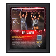 Anderson & Gallows Hell in a Cell 15 x 17 Framed Plaque w/ Ring Canvas