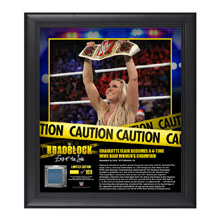 Charlotte RoadBlock 2016 15 x 17 Framed Plaque w/ Ring Canvas