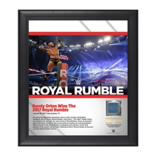 Randy Orton Royal Rumble 2017 15 x 17 Framed Plaque w/ Ring Canvas