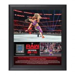 Bayley 1st RAW Women's Championship Reign 15 x 17 Framed Plaque w/ Ring Canvas