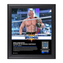 Brock Lesnar WrestleMania 33 15 x 17 Framed Plaque w/ Ring Canvas