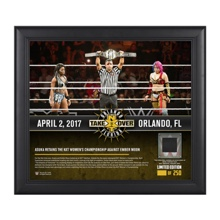 Asuka NXT TakeOver Orlando 15 x 17 Framed Plaque w/ Ring Canvas