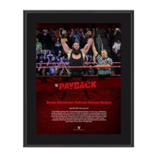Braun Strowman Payback 2017 10 x 13 Commemorative Photo Plaque