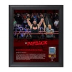 Braun Strowman Payback 2017 15 x 17 Framed Plaque w/ Ring Canvas