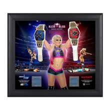 Alexa Bliss Makes History 15 x 17 Framed Plaque w/ Ring Canvas