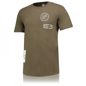 Red Bull Racing Lifestyle T-Shirt by PUMA - Khaki