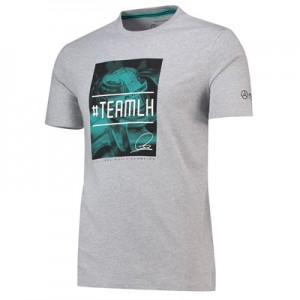 Mercedes AMG Petronas Team LH T-Shirt - Grey Marl