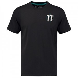 Mercedes AMG Petronas Bottas 77 T-Shirt - Black - Kids