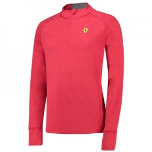 Scuderia Ferrari Long Sleeve 1/2 Zip Midlayer