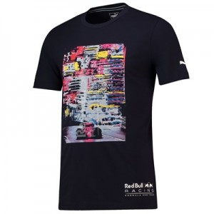 Aston Martin Red Bull Racing LS Graphic T-Shirt by Puma-Navy