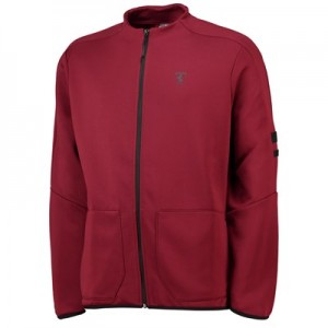 Scuderia Ferrari T7 Track Jacket by Puma - Pomegranate