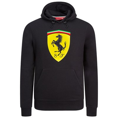 Scuderia Ferrari Hooded Sweat - Black