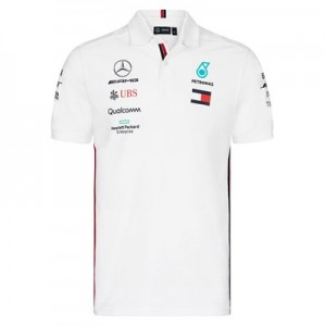 Mercedes AMG Petronas 2019 Team Polo - White