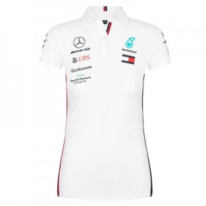 Mercedes AMG Petronas 2019 Team Polo - White - Womens