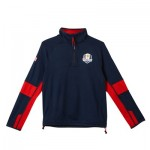 The 2018 Ryder Cup USA Fanwear Tech Midlayer - Junior - Navy/Red