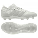 adidas Nemeziz 18.1 Firm Ground Football Boots - Silver - Kids