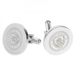 Manchester City Round Crest Cufflinks - Stainless Steel