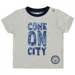 Manchester City Baby Come on City T Shirt - Grey Marl - Boys