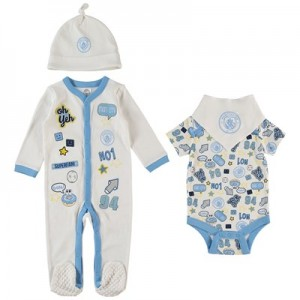 Manchester City Baby badges Layette - Sky - Boys