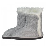 Manchester City Boot Style Slipper - Grey - Womens