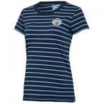 Manchester City Core Stripe Short Sleeve T-Shirt - Navy - Womens