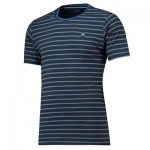 Manchester City Terrace Multi Stripe Tshirt - Navy - Mens
