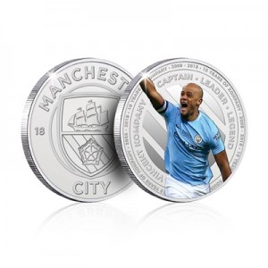 Manchester City 10 Years of Vincent Kompany Commemorative Medal
