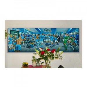 Manchester City Dream Scene Stretched Canvas Print - 180 x 60cm - Limited Edition