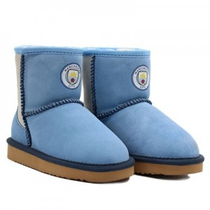 Manchester City Wool Boots - Blue - Kids