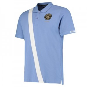 Manchester City 125 Years Three Rivers Polo - Sky - Mens
