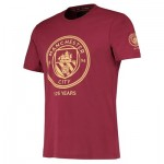 Manchester City Manchester City 125 Years T Shirt - Maroon - Unisex