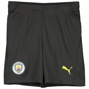 Manchester City UCL Training Shorts - Dark Grey - Kids