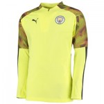 Manchester City UCL 1/4 Zip Training Top - Yellow