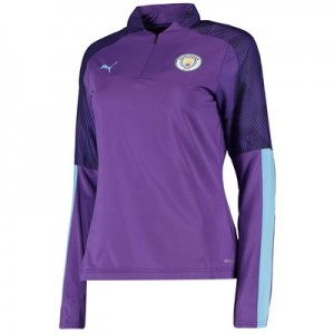 Manchester City 1/4 Zip Training Top - Purple - Womens