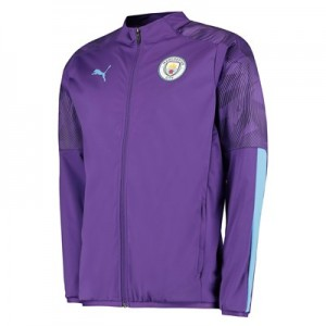 Manchester City Training Woven Jacket - Purple