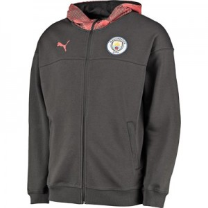 Manchester City Casuals Full Zip Hoody - Asphalt