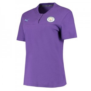 Manchester City Casuals Polo - Purple - Womens