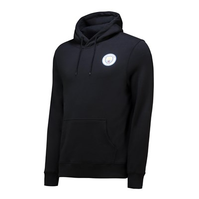 Manchester City Small Crest Hoodie - Black - Mens